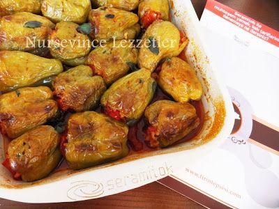 fırında zeytinyağlı biber dolması tarifi www.nursevincelezzetler.com