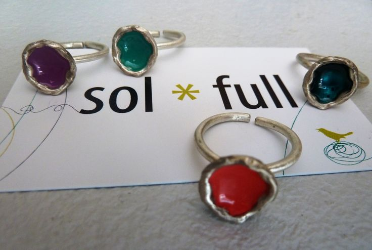 Sterling silver and enamel