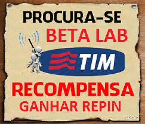 TIMbeta Lab recompensa REPIN