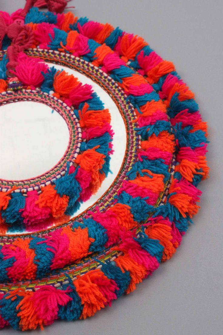 Boho Crochet Tassel Mirror