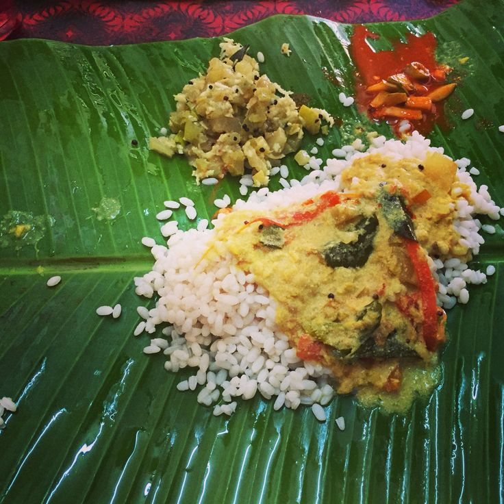Typical lunch in Kannur. Kerala
