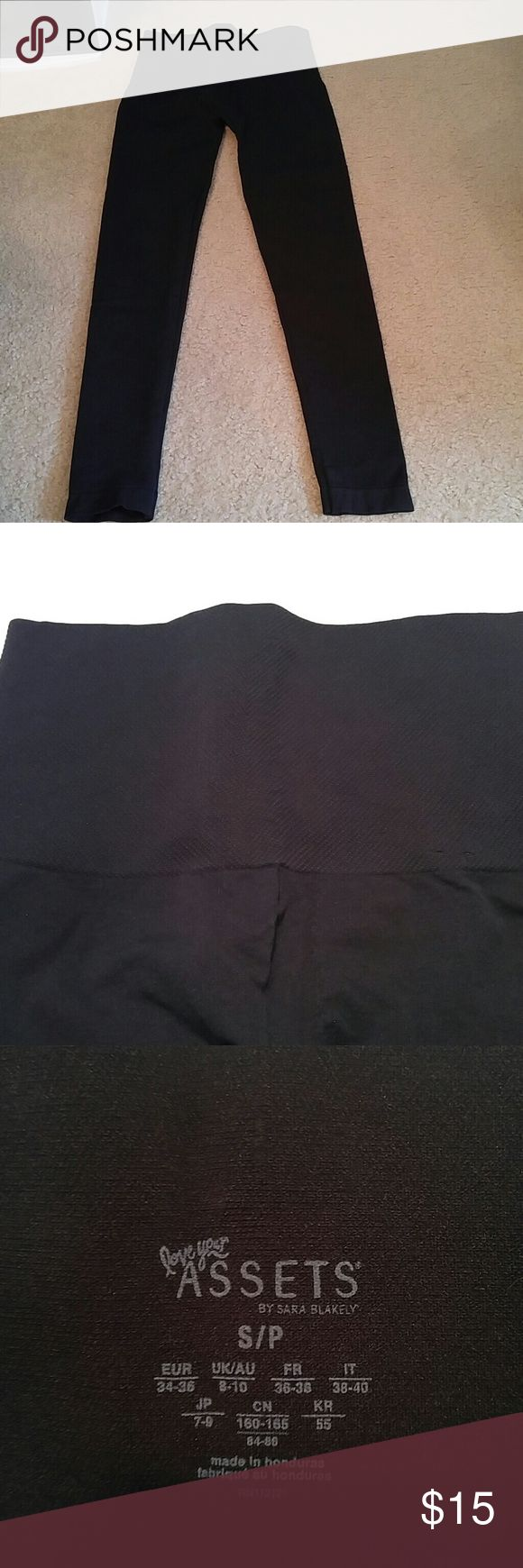 Love Your Assets Spanx Black Leggings Small Love Your Assets Spanx Black Leggings. Size Small. Tummy control panel. Like New condition! SPANX Intimates & Sleepwear Shapewear