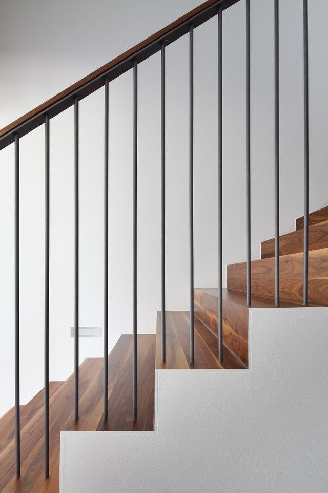 the 25 best modern stair railing ideas on pinterest modern staircase modern railing and. Black Bedroom Furniture Sets. Home Design Ideas