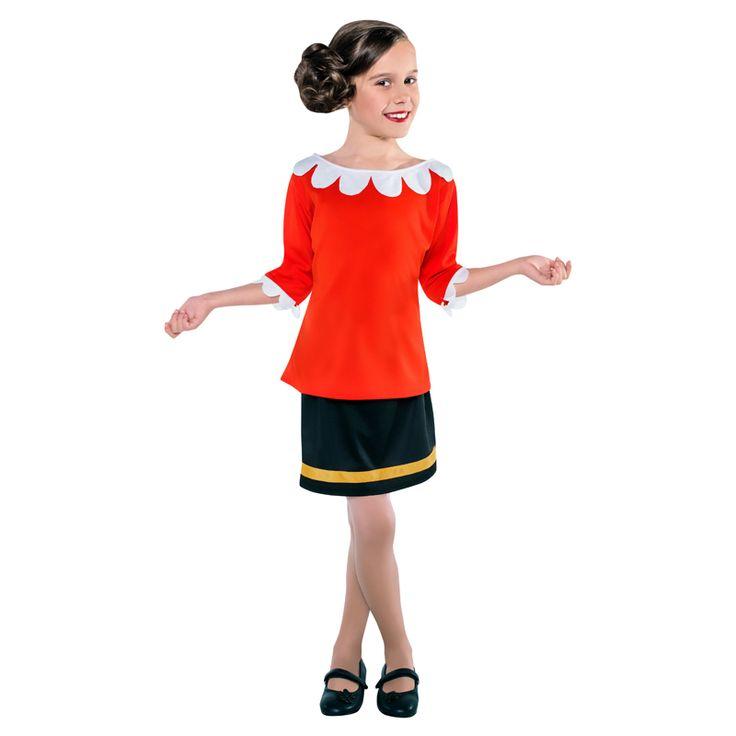 Déguisement Olive Popeye #déguisementsenfants #costumespetitsenfants #nouveauté2015