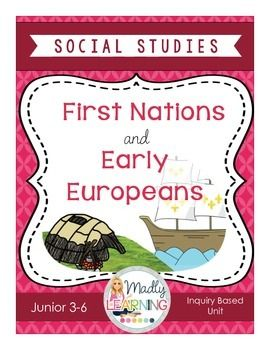 First Nations and Europeans in Early CanadaThis product is designed for the New Ontario Revised Curriculum:  HERITAGE AND IDENTITY: FIRST NATIONS AND EUROPEANS IN NEW FRANCE AND EARLY CANADA This unit includes two small inquiry activities and a consolidation activity.  1) Students will research about a First Nations Community in the Great Lakes region or Eastern Canada. 2) Students will research ways in which Europeans had contact with the First Nations3) students will look at the benefits…