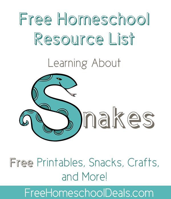 Free Homeschool Resource List: Learning About Snakes — Snake Themed Freebies!