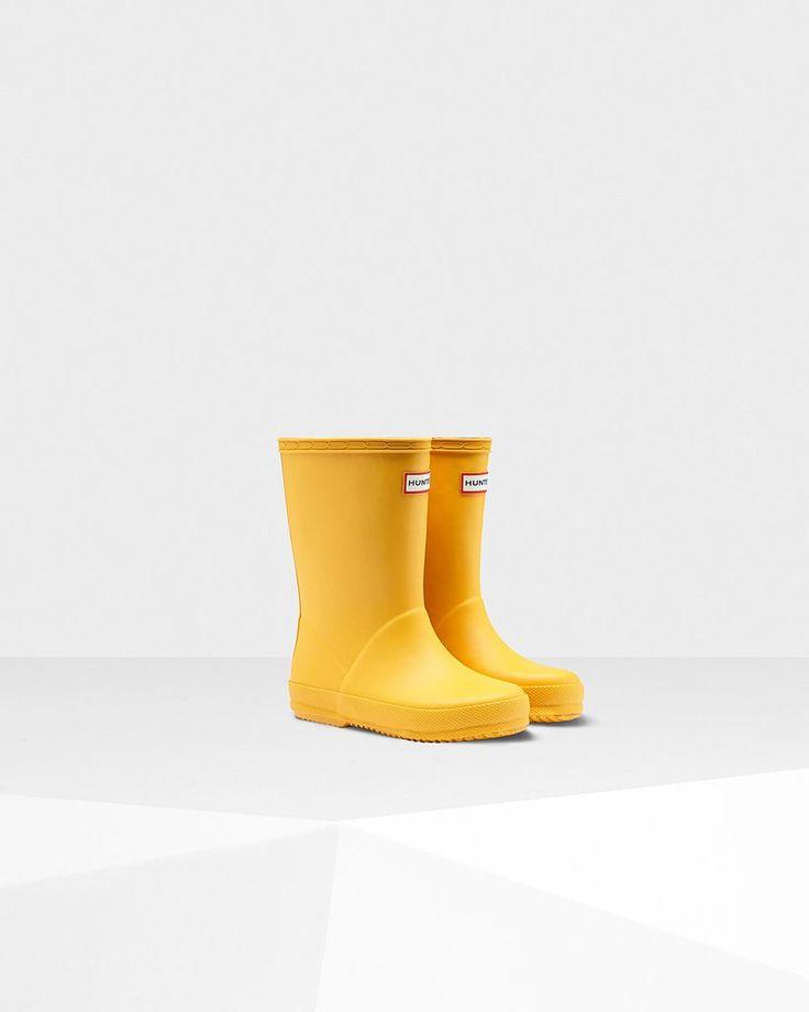Hunter Boot Kids First Classic Rain Boots - Sunlight
