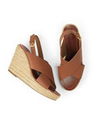 Sienna Wedge (Tan Leather)