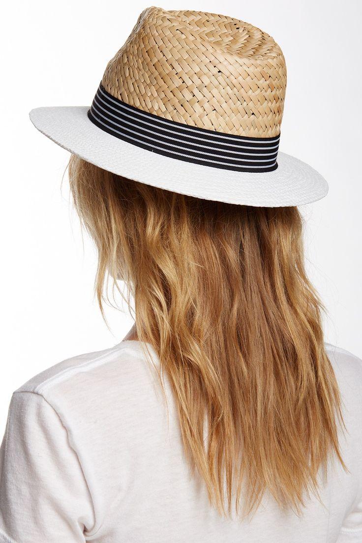 Vince Camuto   Nautical Panama Brim Hat//