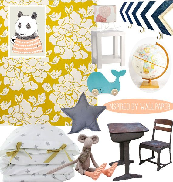 Inspired By Wallpaper Eclectic Toddler Girl Bedroom Spearmintbaby Com