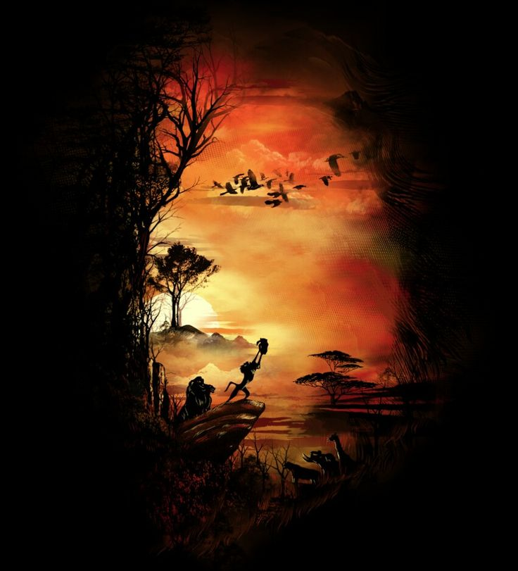 The Lion King. I would love to have this painted and hung on my wall. Would be so beautiful.