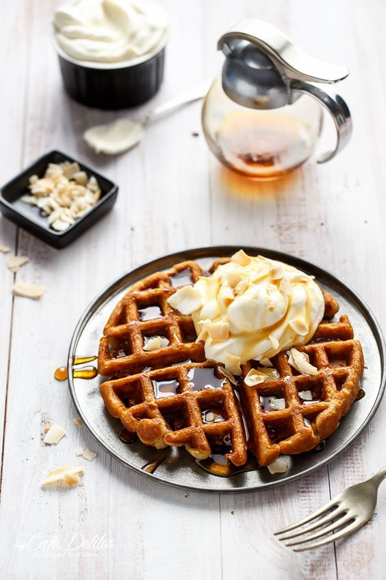 1000+ images about Waffles on Pinterest | Cook in, Waffle iron recipes ...