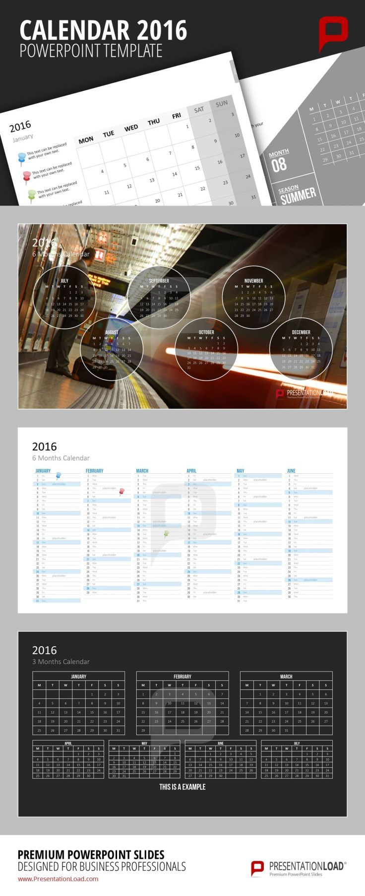 Best Calendars  Powerpoint Templates Images On