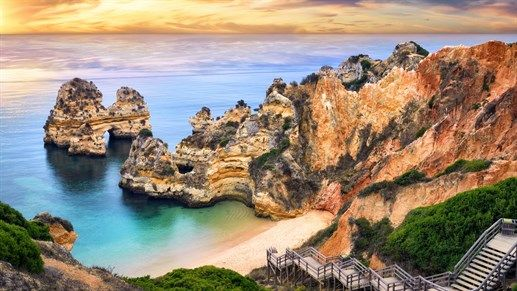 Hidden gems of Europe - Lagos in Portugal is famous for its sun, surf and beach life. #inspiration #kilroy #travel