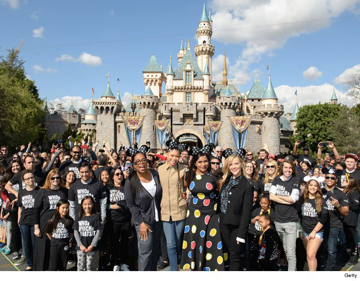 "Oprah, Reese Witherspoon Surprise 'A Wrinkle in Time' Fans at Disneyland      Oprah, Mindy & Reese Come for The Mouse ... Stay for the Stars!!  Oprah, Mindy Kaling and Reese Witherspoon know the drill -- a pilgrimage to Disneyland's a must anytime you're in a Disney film.    The stars -- along with Storm Reid -- surprised a bunch of ""A Wrinkle in Time"" fans Thursday at The Happiest Place on Earth. Fans never saw it coming ...    Attention!!! This is Just an Announce to view full post click…"