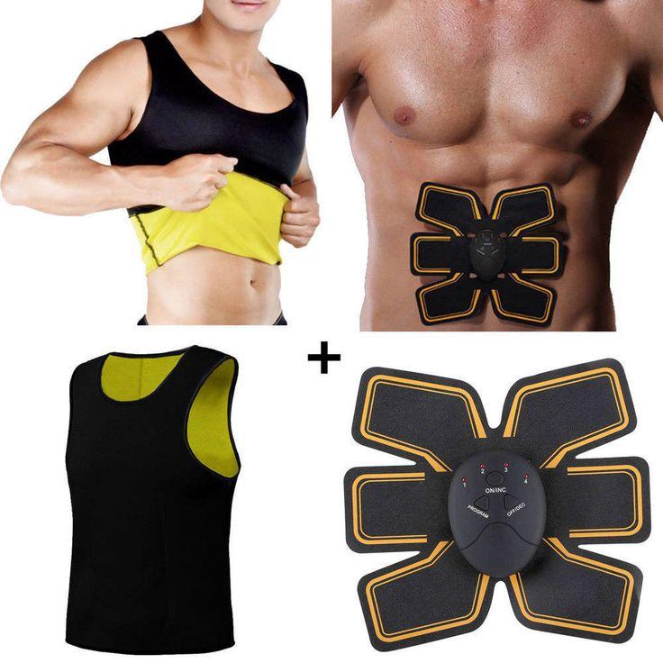 Canotta uomo + elettrostimolatore gym training maglia dimagrante
