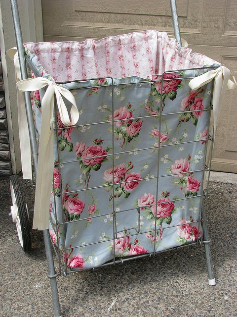 Fabric lined cart by Maison Douce, via Flickr