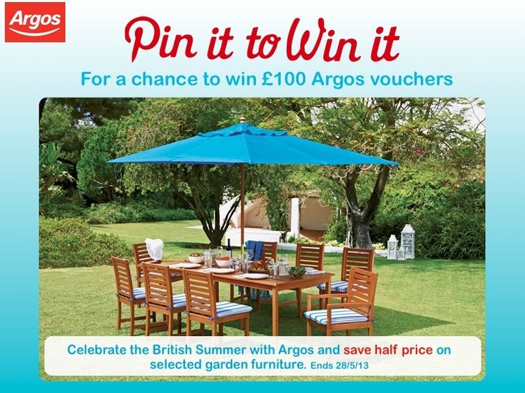 Repin this image for a chance to win #Argos vouchers #PintoWin (Ends 17/05)