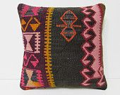 decorating living room 18x18 turkish pillow case outdoor pillow case kilim pillow gypsy pillow cover large pillow decorative pillows 27003