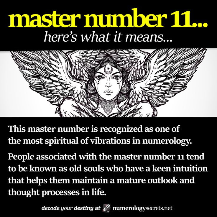 Master Number 11 Deciphered. Learn more at http://numerologysecrets.net/master-number-11/