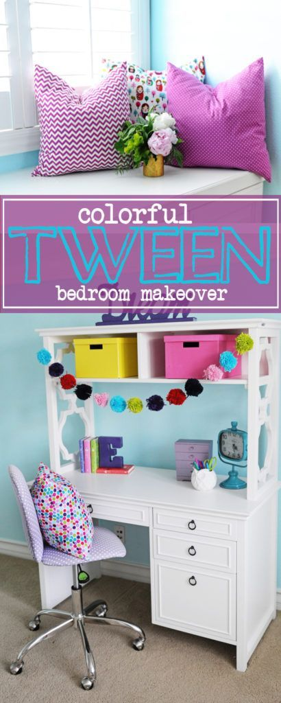 interior design tween girl bedroom design purple and turquoise - Girl Bedroom Decor Ideas