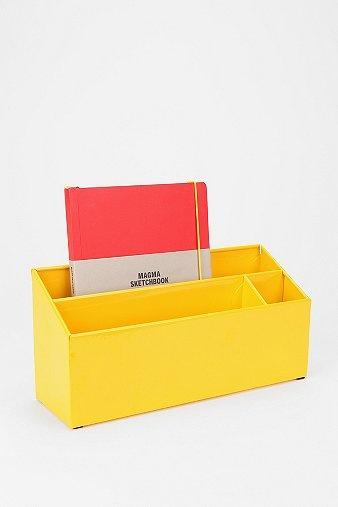 Sunfire Enameled Letter Storage Bin