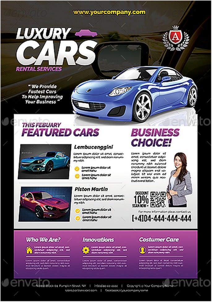 25 Best Car Rental Flyer Templates Psd Ai Format With Images