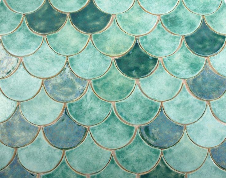 kafle rybia łuska w dekornia na DaWanda.com