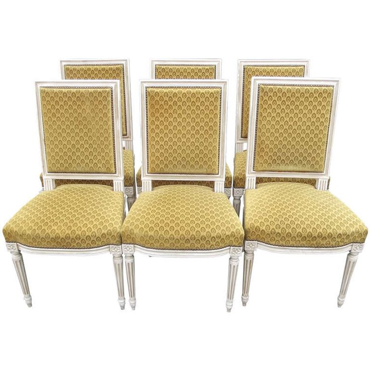 Set Of Six Louis XVI Style Dining Chairs