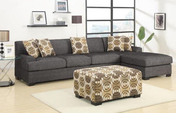Sandford Family Chaise Sofa Ash - Chaise Sofas