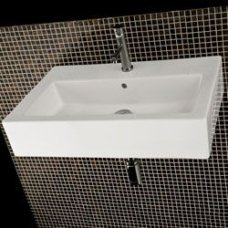 Superieur Lacava 5468 Aquagrande Wall Mount Or Above Counter Porcelain Sink With An  Overflow #