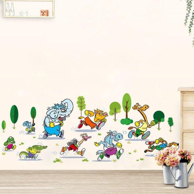 Wandtattoo Cartoon Kinderzimmer ic Figuren