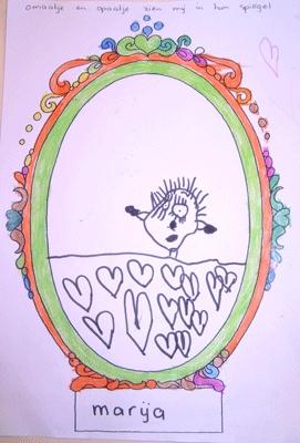Teken jezelf in de spiegel (Palet Vlijmen)