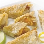 Organic Apple Turnovers (12 oz.) - 12-piece dessert. Granny Smith apples seasoned with vanilla, cinnamon and a hint of nutmeg, wrapped in Fillo t. Healthy: USDA Organic, Vegan, Yeast-Free, Kosher OU-Parve, No Trans-Fat, No Saturated Fat, No Cholesterol. See nutrition or shop online at http://www.fillofactory.com/desserts.html.