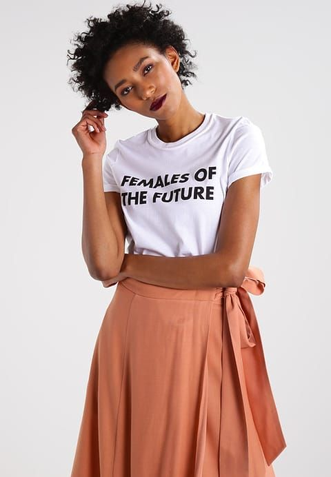 Topshop FEMALES OF THE FUTURE - T-shirt z nadrukiem - white - Zalando.pl