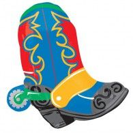 Wild West Boot Balloon (Inflated) $22.95 U25745