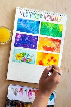 Si eres un principiante con las acuarelas, estas 8 técnicas te convertirán en un gran artista