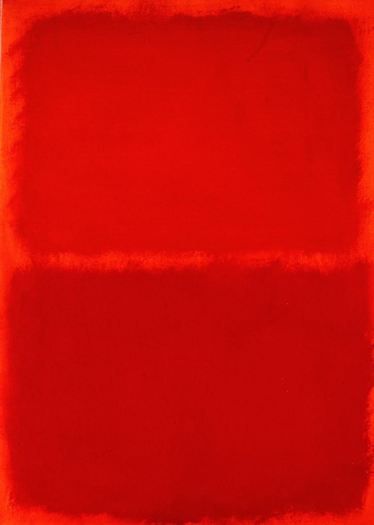 Mark Rothko, Orange, Red, Orange, 1957.