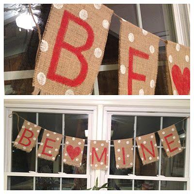 DIY Valentine's Day Burlap Banner