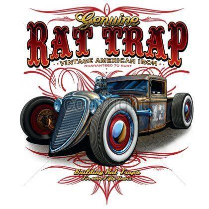 Adult Unisex T Shirt Genuine Rat Trap Car 17682