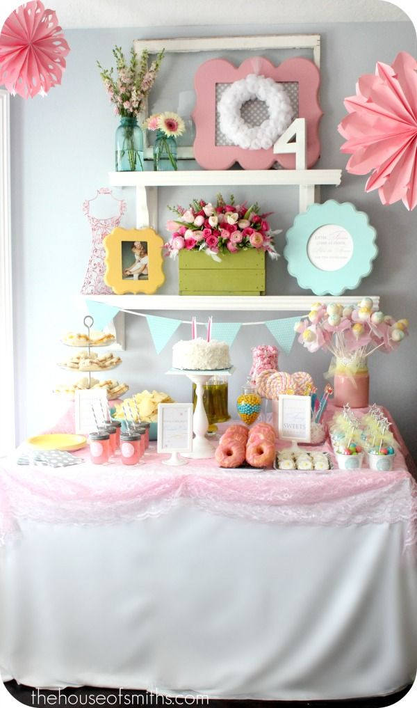 Cute and whimsical party decor.