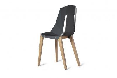 Krzesło DIAGO z filcem - grafitowy szary // Tabanda