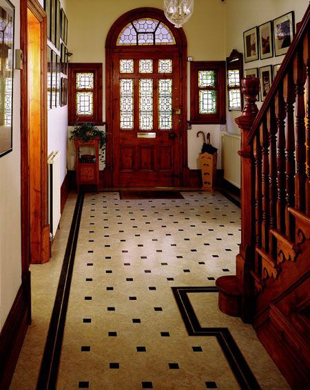 Idaho Victorian Photos | Foyer designs courtesy of Amtico® Vinyl Flooring - All rights ...We like the design, except we would do brown tiles instead of the black that they did.