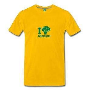 Jag älskar broccoli vegetabiliska logotyp T-shirts - Premium-T-shirt herr