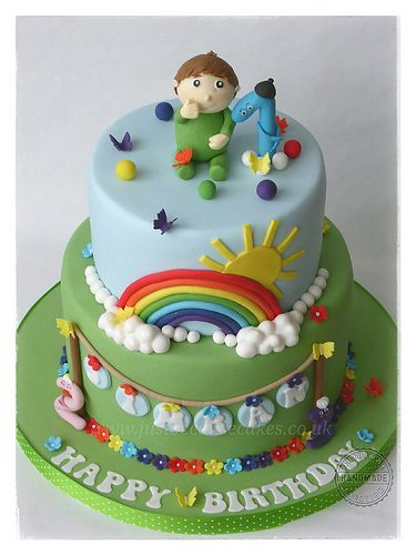 Charlie And The Numbers Birthday Cake Rainbow Cakes Birthday