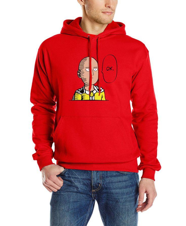 2017 autumn winter man male hoodie hip hop Sweatshirts One Punch Man Hero Saitama Oppai Hoodie Cosplay Costume character Hooded #Affiliate