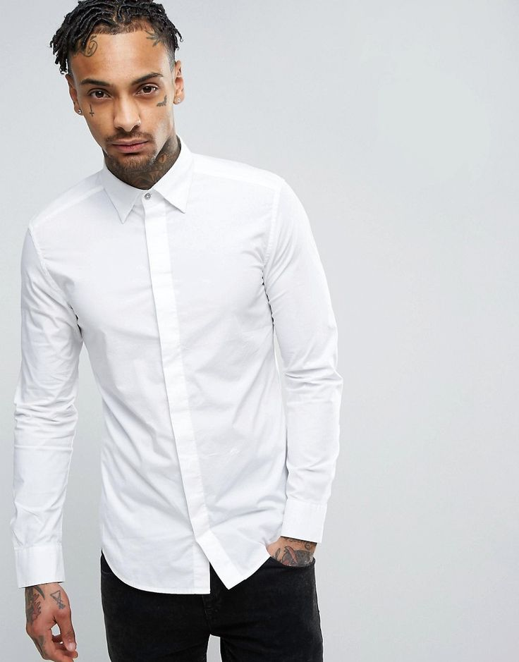Get this Diesel's basic shirt now! Click for more details. Worldwide shipping. Diesel Shirt S-Nap Slim Fit Core Concealed Placket In White - White: Short sleeve shirt by Diesel, Stretch crisp cotton, Point collar, Concealed button placket, Slim fit - cut closely to the body, Machine wash, 96% Cotton, 4% Elastane, Our model wears a size Medium and is 185.5cm/6'1 tall.  (camisa básica, basic, basico, basica, básico, basicos, casual, clasica, clasicas, clásicas, clásica, clásco, básicos, e...