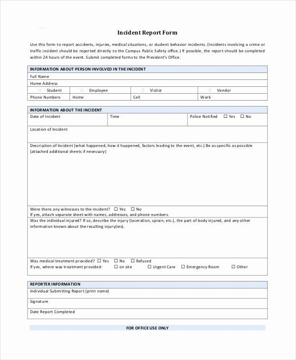 blank incident report form beautiful blank incident report