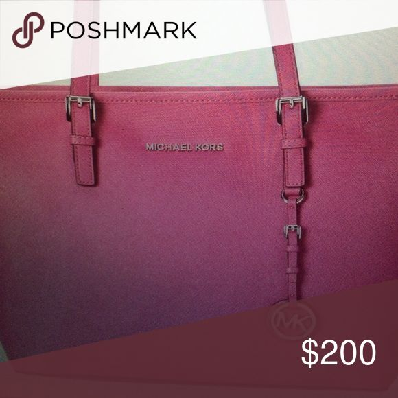 Michael kors jet set tote Never used. Beautiful pink bag. Price is firm MICHAEL Michael Kors Bags Totes