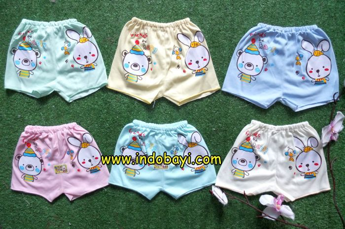 Celana pendek hello baby kelinci - Indobayi
